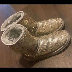 Gold sparkle ugg boots